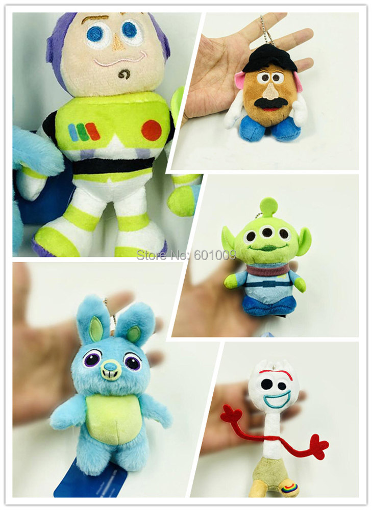 10/Lot 5 Styles Buzz Lightyear Bunny Alien Forky Mr. Potato Head 10 14CM Plush Keychain Doll Pendants Toy Retail-in Movies & TV from Toys & Hobbies on AliExpress - 11.11_Double 11_Singles' Day 1