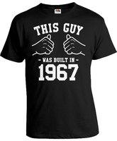 Personnalisé Cadeau D'anniversaire Idées Pour Hommes 50e Anniversaire Chemise Bday T chemise Année B Jour Ce Gars A Été Construit En 1967 Hommes Tee-A492