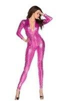 Женская Сексуальная певица хип-хоп в джазовом стиле для ночного клуба, Боди для танцев Рианны, сценические костюмы, одежда для певцов, 5 цветов, джазовый костюм - Цвет: hot pink