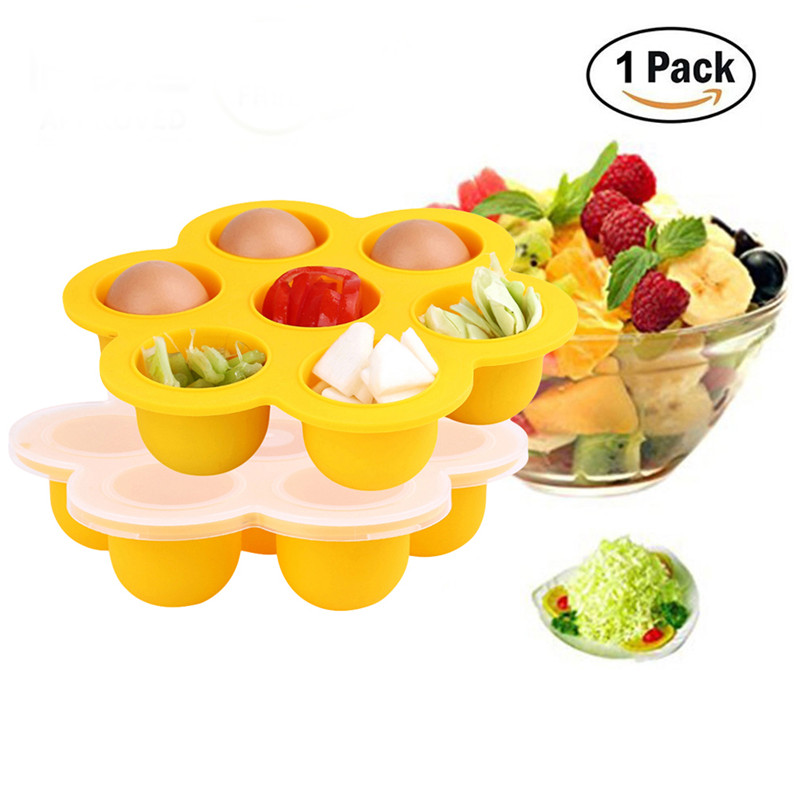 7 Grid With On Lid Baby Food Supplement Food Freezer Box