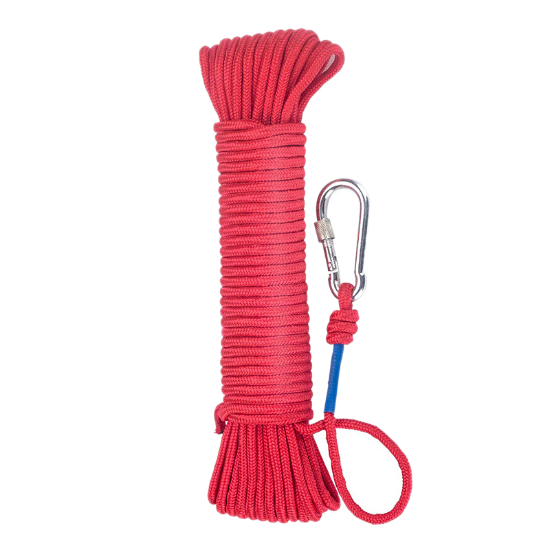 Fishing Magnet Rope 20 Meters, Nylon Rope Braided Rope Heavy Rope With Safe Lock,Diameter 6Mm Safe And Durable