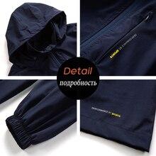 Men Autumn Hooded Casual Elastic WaterProof Jacket Coat Trench Men Brand Fashion Detachable Hat Jackets Men