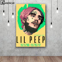 Art Poster Lil Peep Hot Rapper Star Posters and Prints Wall Picture Canvas Painting Room Home Decoration(China)