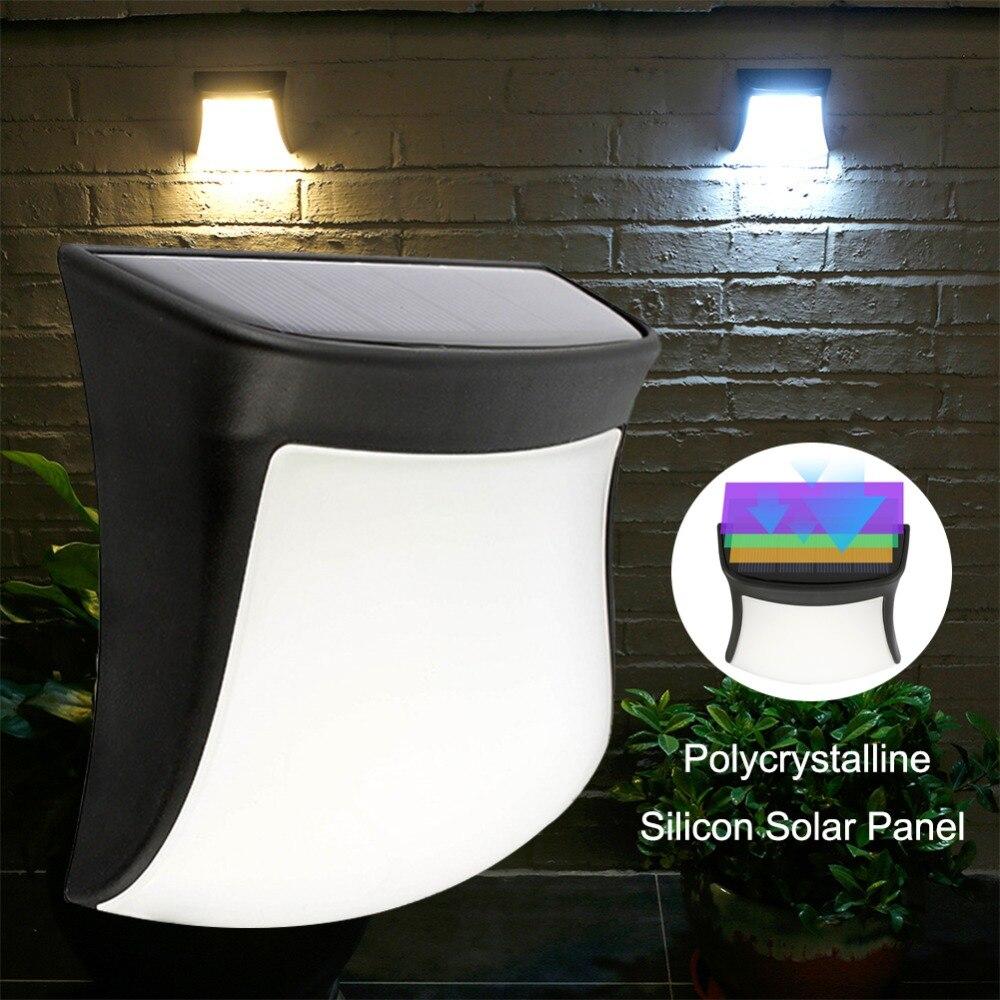 Solar LED Light Waterproof Solar Lamp Smile Face Light Sensor Smart For Path Outdoor LED Fence Wall Garden Solar Light Lamp