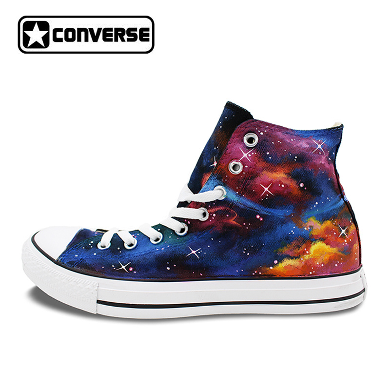 Original Galaxy Nebular Hand Painted Shoes Design Athletic Sneakers Mens Womens Converse Chuck Taylor Brand Black Chucks