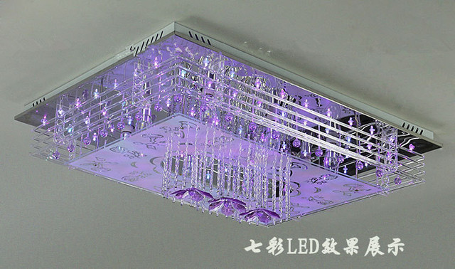 Mesmerizing Led Crystal Chandelier With Mp3 And Speakers Images ...