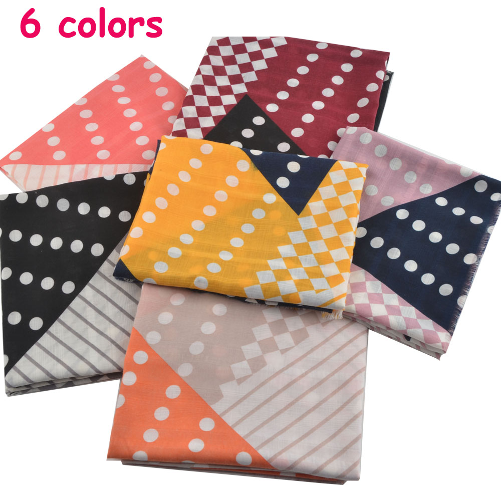 Women winter warm scarf Muslim hijab polka dot scarves shawls wrap british style Rayon cotton hijab