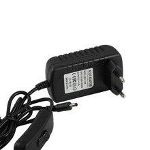 24W Black LED Driver 12v With Rocker Switch For Strips  Power Supply European Plug 3.5DC plug output