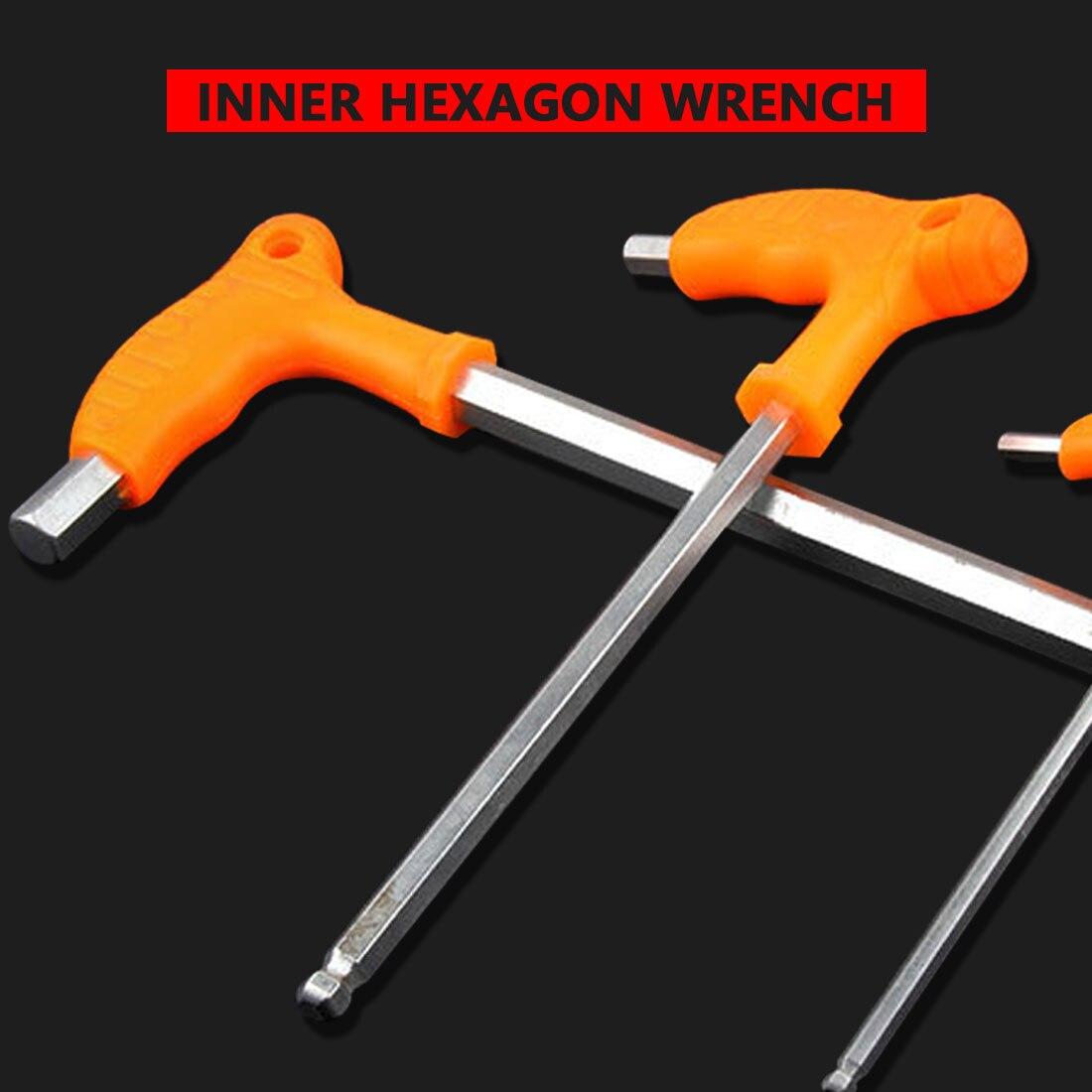 "3//8/"" x 6/""OAL 10 Pc Long Reach T-Handle Hex Key Wrench Set Eklind 30160 3//32/"""