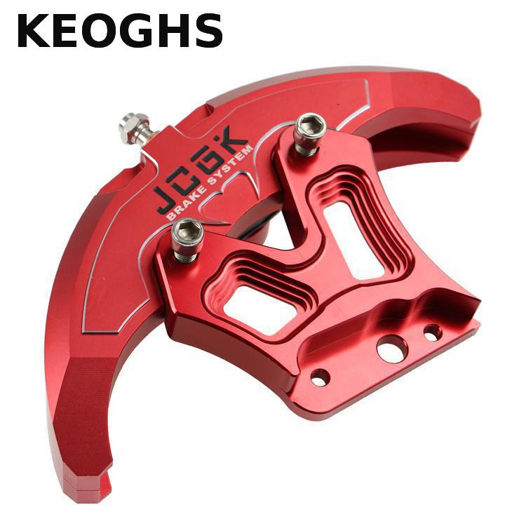 KEOGHS Motorcycle Scooter Modify Brake Caliper 4 Piston Cnc Aluminum Replacement For Honda Yamaha Kawasaki Dirt Bike Motorbike keoghs motorbike rear brake caliper bracket adapter for 220 260mm brake disc for yamaha scooter dirt bike modify