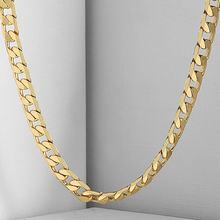 5mm Mens Chain Womens Unisex Girls Boys Cut Flat Curb Cuban Link Yellow Gold Filled Necklace Personalize Size GN316(China)