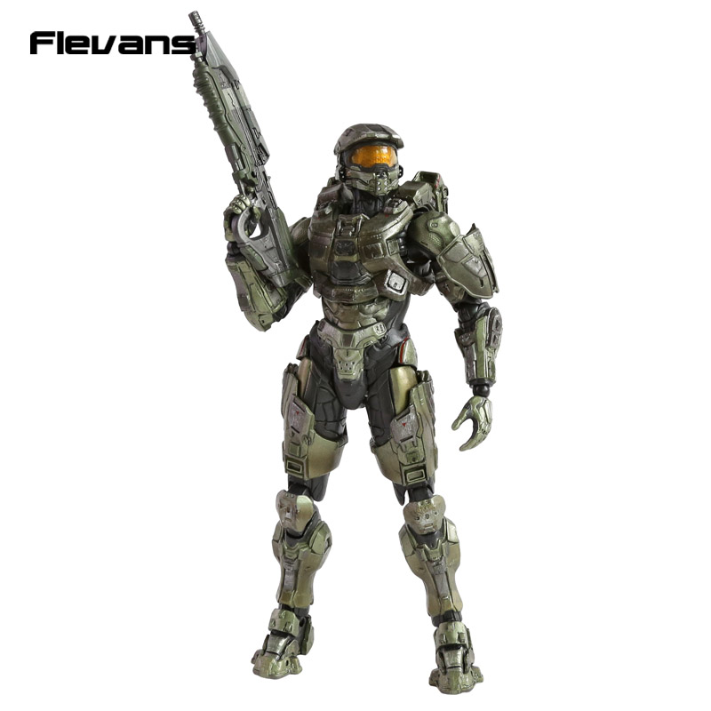 ФОТО Play Arts KAI HALO 5 Guardians No.1 Master Chief PVC Action Figure Collectible Model Toy 26cm