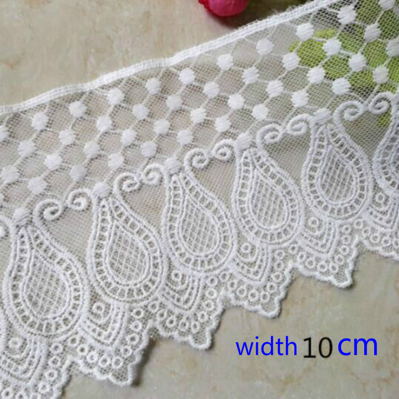 Embrodiary Flower Lace Fabric Water Soluble Lace Trim Fabric  For Sewing Bridal Wedding Dress Crafts