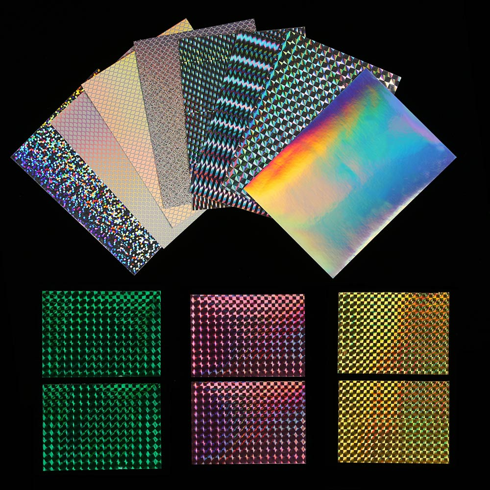 Sticker Fishing Lure Flash Tape Fly Tying Material Holographic Adhesive Film