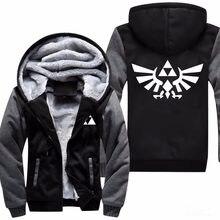 a4245f76d9c High Quality The Legend of Zelda Link Men Thicken Hoodie Women Anime Zipper  Coat Jacket Sweatshirt