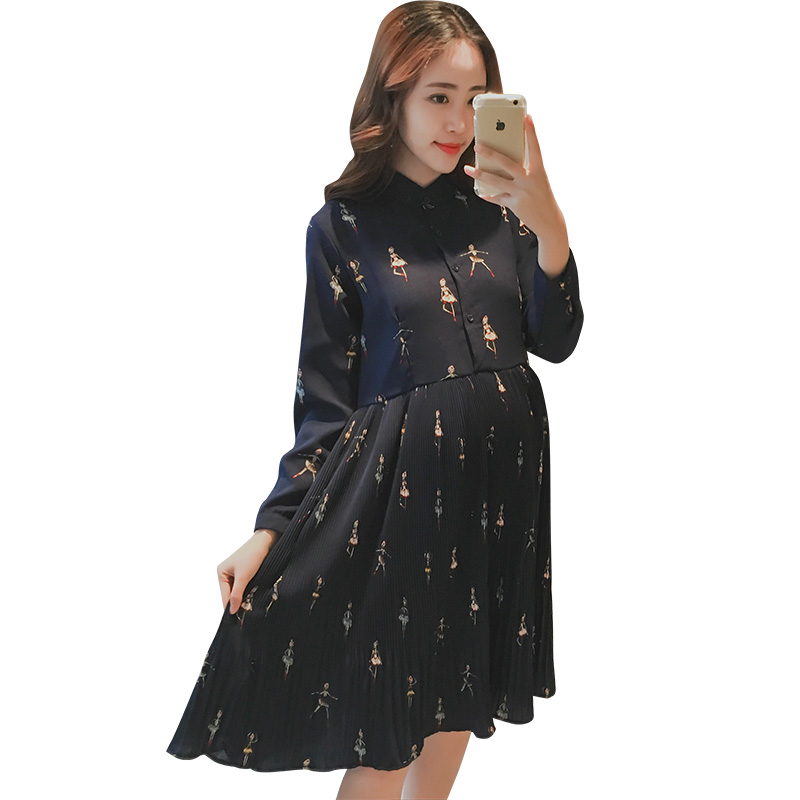 e2a8a3f1fe447 2017 summer lace patch worked maternity shirts long sleeve loose blouses  clothes for pregnant women pregnancy