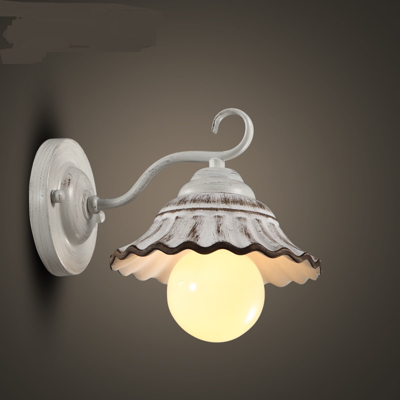 Come to American country romantic coffee shop clothing living room dining room window lamp Candle Wall Lamps LO71816 tulle curtains 3d printed kitchen decorations window treatments american living room divider sheer voile curtain single panel