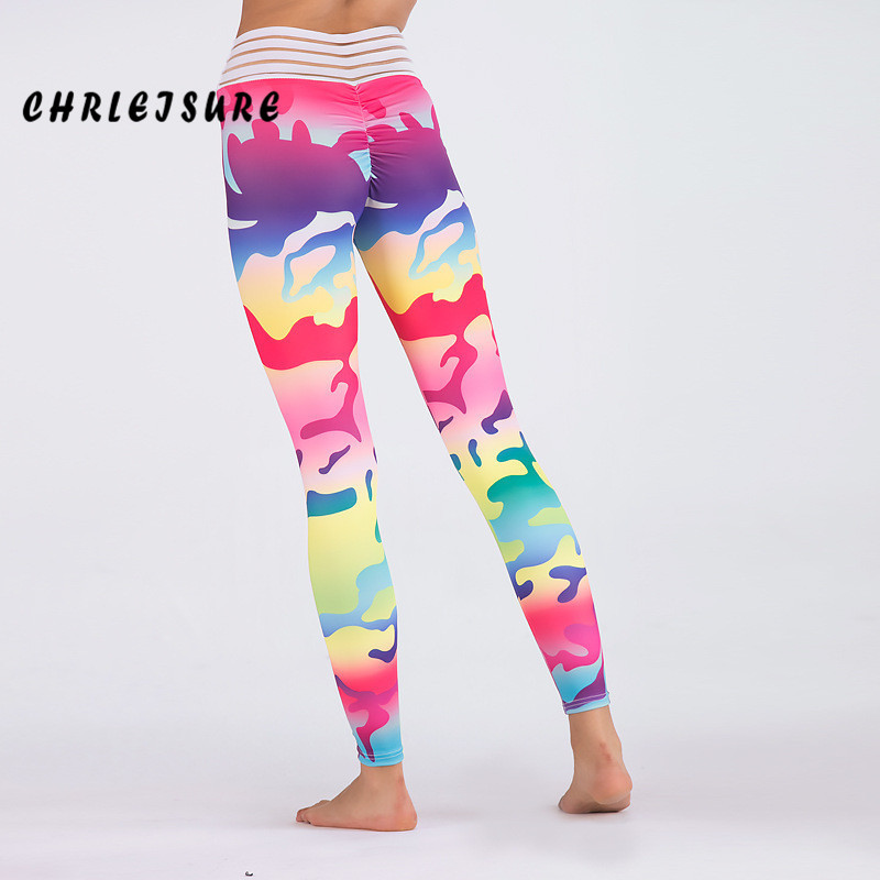 CHRLEISURE Hohe Taille Frauen Leggings 2018 Neue Sommer Autum Camo Fitness Hosen Polyester Atmungsaktiv Elastizität Frauen Leggings