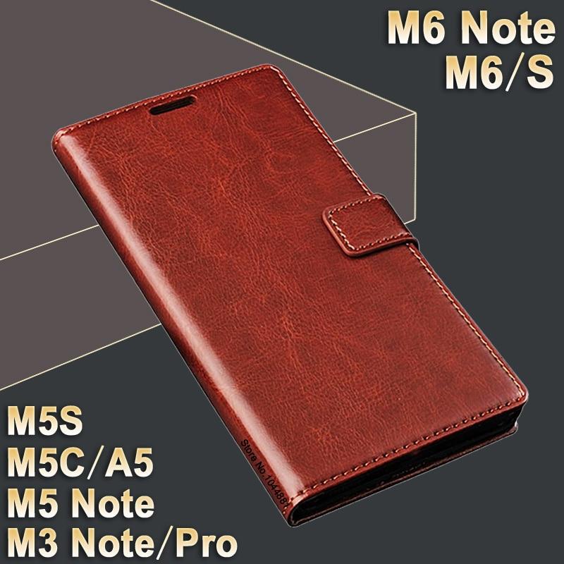 Meizu M 6 Note Etui Cover Leder Crazy Horse Flip Case für M 5 Note Meizu M6S Case Cover Luxus M3 Note Pro Meizu M5c Case M5s