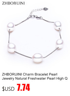 HTB1CNdibWagSKJjy0Fhq6ArbFXal ZHBORUINI 2019 Pearl Necklace 925 Sterling Silver Jewelry For Women 8-9mm Crystal Ball Natural Freshwater Pearls Pearl Jewelry