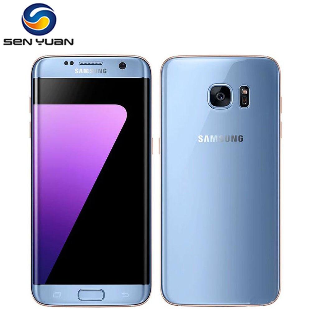 Оригинальный разблокированный Samsung Galaxy S7 край G935F/G935V мобильный телефон, 4 Гб RAM, 32G ROM Quad Core, Wi-Fi, GPS и 5,5 ''12MP LTE сотовый телефон