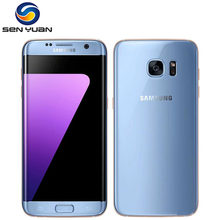 Original desbloqueado Samsung Galaxy S7 borde G935F/G935V teléfono móvil 4GB RAM 32G ROM Quad Core WIFI GPS 5,5