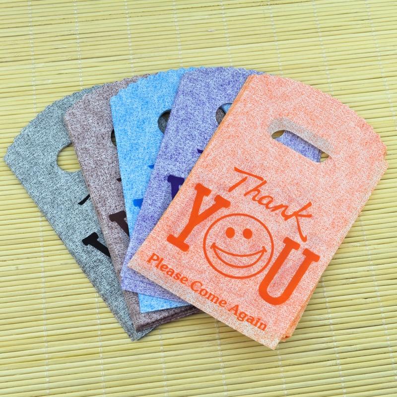 2018 Neue 50 Teile/los 9*15 Cm danke Design Kunststoff Geschenk Tasche Mode Charme Ohrringe Schmuck Verpackung Taschen Nette Mini Pouch Tasche Schmuck-verpackung & Präsentation