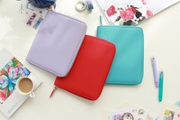 Pure Color Softcover Zipper Bag Fashion Journal Cover A5 Suit For Hobo And Standard Inner Book