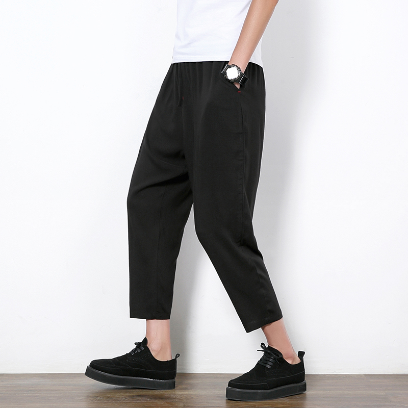 e17e3bef0e0 New Design Thin Summer Linen Men s Harem Pants Men Fashion Baggy Ankle-Length  Trousers Luxury Brand Hip Hop Harem Pants Boys 5XL