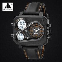 Nuevos Hombres de lujo marca Alike hombres reloj de cuarzo de Moda de acero relojes de pulsera de buceo 30 m reloj deportivo relogio masculino