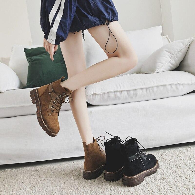 Produit Véritable Automne Nouveau Noir brown D'hiver 2018 Mycoron Cheville Femme De Zapatos Bottes Chaud Luxe Mujer Chaussures Hiver En Cuir Femmes 8wvWRW5qE