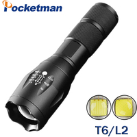LED XM-L2 5000LM Tactical Flashlight Light Torch Lanterna CREE XM-T6 Flashlight 3800LM Zoomable Torche Lampe For 18650 ZK58