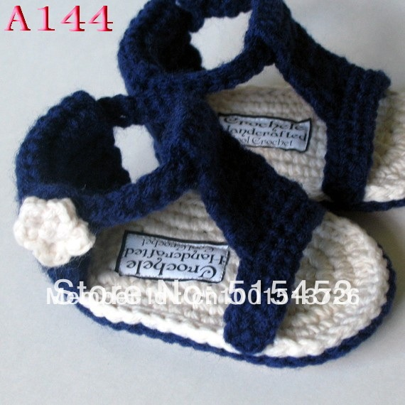 Crochet Baby Sandals Pattern Handmade Crocheted Blue Baby Shoes Free