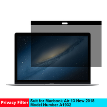 Magnetic Privacy Filter Screen Protective Film for Macbook Air 13 Inch Protector Model Number A1932 New 2018