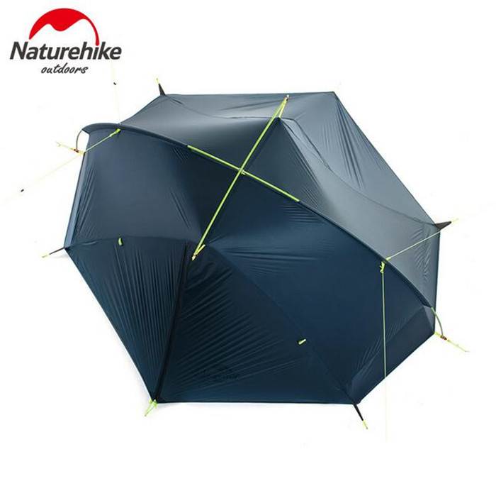 Naturehike Outdoor Portable Camping Tent For 1-2 Person 4 Season 20D Silicone Fabric Double Layer Rainproof Lightweight Tent naturehike 1 person camping tent with mat 3 season 20d silicone 210t polyester fabric double layer outdoor rainproof camp tent
