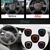 1 PCS DIY Car Styling Aluminum Modified Steering Wheel Decorative Circle Bright Cover Case Stickers For