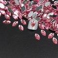 Nuevo 200 unids Brillo de Uñas Rosa Claro Caballo Ojos Diseño Piedras Accesorios de Maquillaje Decoración de Uñas de Acrílico Del Arte Del Clavo Rebanadas
