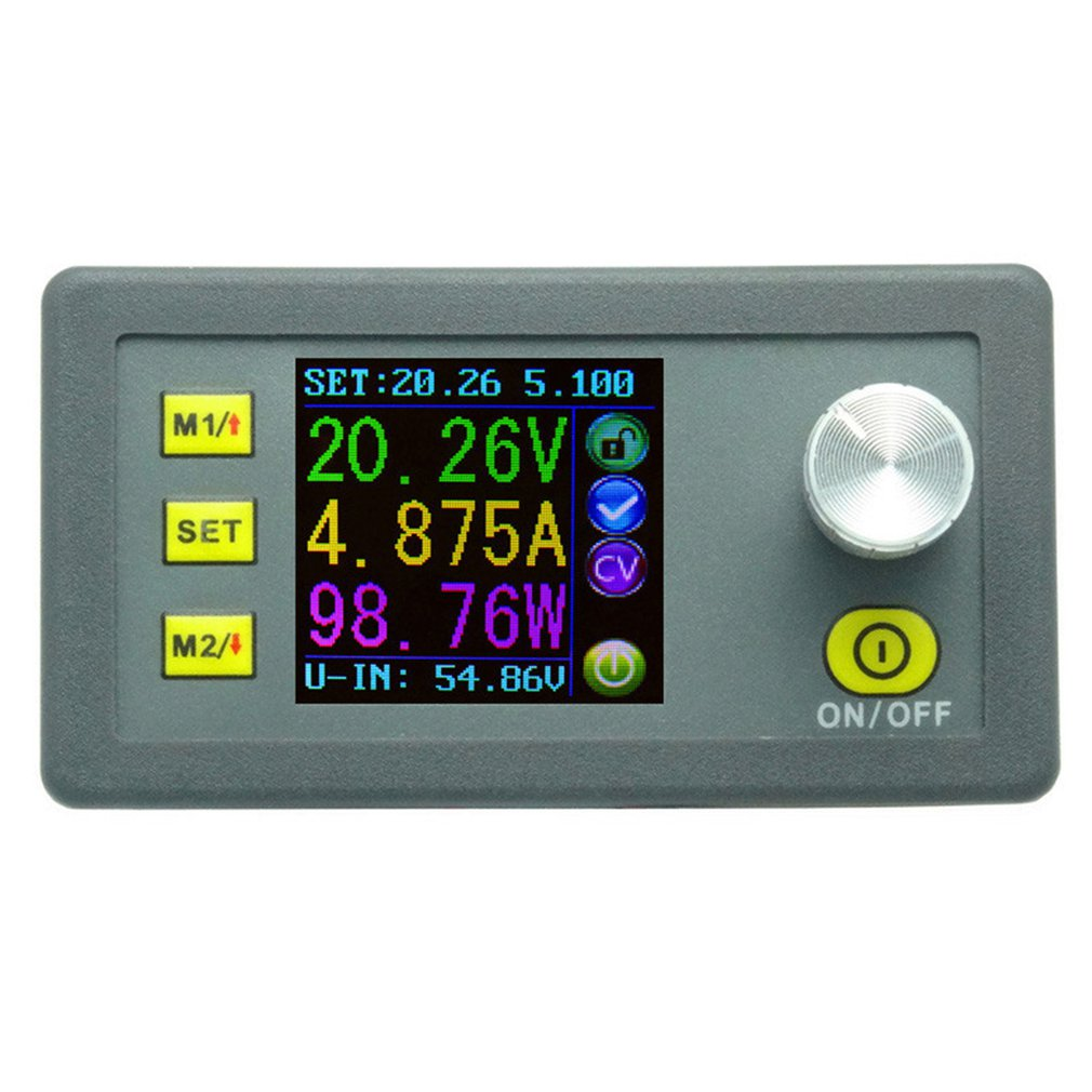 CNC buck-boost DC adjustable power supply step-down module integrated voltage ammeter Output short circuit protection