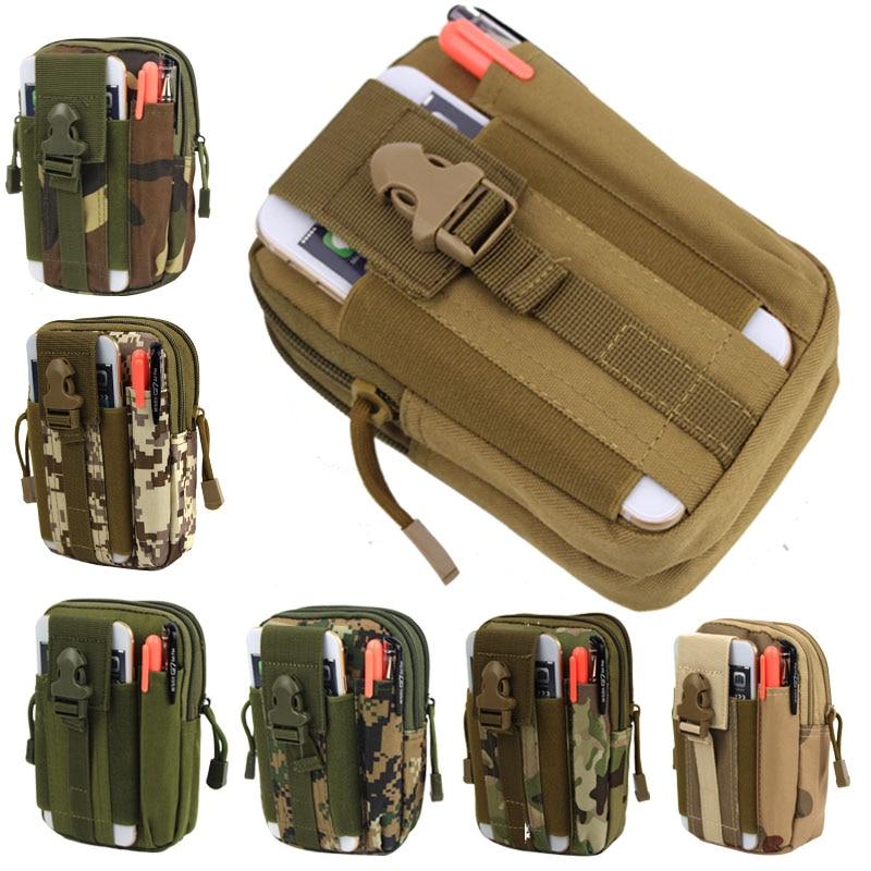 Men Waist Pack Bum Bag Pouch Waterproof Military Belt Waist Packs Molle Oxford Mobile Phone Wallet Travel Big Bag