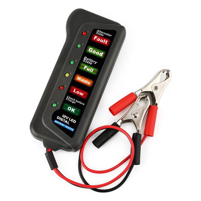 Motorcycle Battery Wire Gauge | Universal 12v Car Battery Tester Alternator Motorcycle Battery
