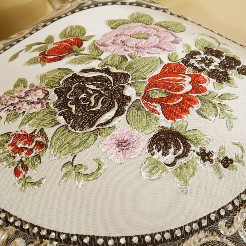 Image 4 - CURCYA Luxury European Floral Square Vintage Cushion Cover for Sofa / Beige Special Round Candy Cushion Covers Home Decoration-in Cushion Cover from Home & Garden on AliExpress