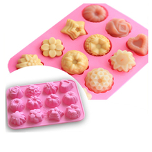 1Pc DIY Flowers Grass Chocolate Silicone Mold For Cake Cookies Non-stick 3D Fondant Candy Jelly Molds Baking