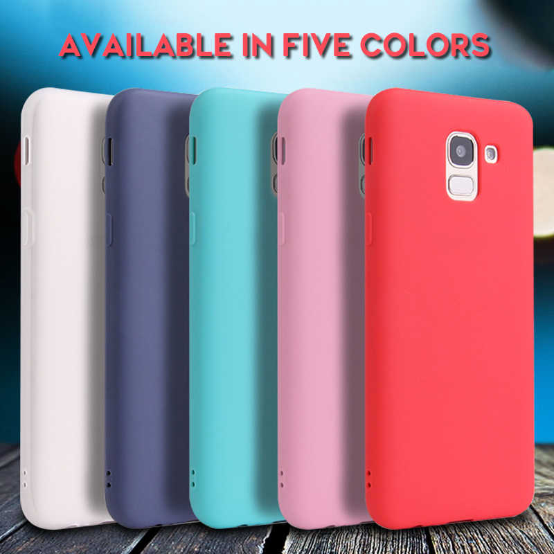 Silicone Cases on For Samsung Galaxy J3 J5 J7 2017 J4 J6 Plus J7 J8 J2 Pro 2018 J4 Core J7 Duo Cover Slim Soft TPU Matte Coque
