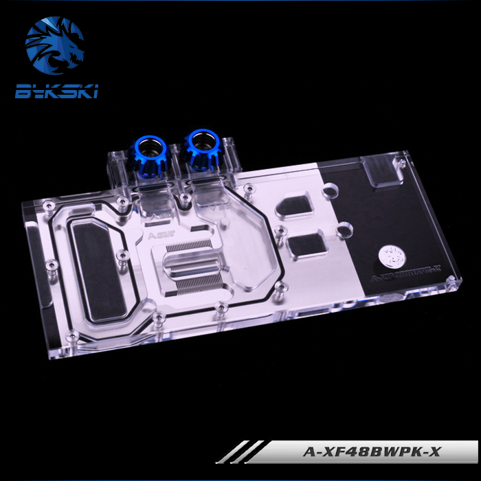 Bykski A-XF48BWPK-X GPU Water Cooling Block for XFX GTR RX 480 580 rep 1 32 fiat 110 90 tractor alloy model agricultural vehicles favorites model