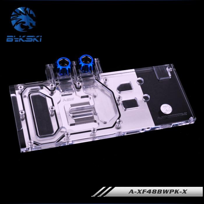Bykski A-XF48BWPK-X GPU Water Cooling Block for XFX RX 480 580