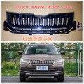 Высокое качество ABS оригинальная Подлинная передняя решетка автомобиля вокруг обрезки гоночных грилей отделка автомобиля-Стайлинг для SKODA ...