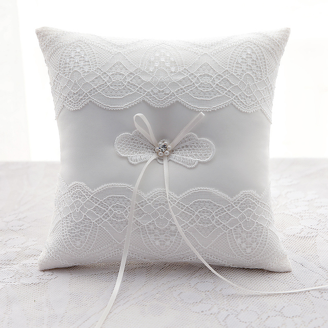 Wedding Decorations Silks and satins Embroidered Wedding Ring Pillow