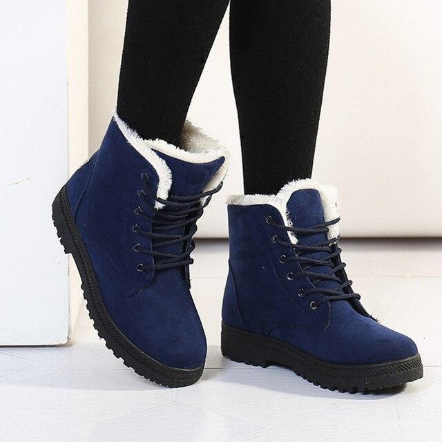Женщины Зимние Сапоги 35-42 Женская Мода Сапоги Женщины Лодыжки Снегоступы 2016 Теплые Туфли на каблуках