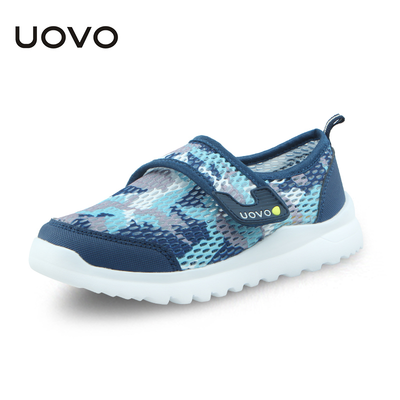 UOVO Spring Summer Kids Shoes Breathable Casual Shoes For Boys And Girls Light-weight Sport Shoes Kids Sneakers Size 28#-37#