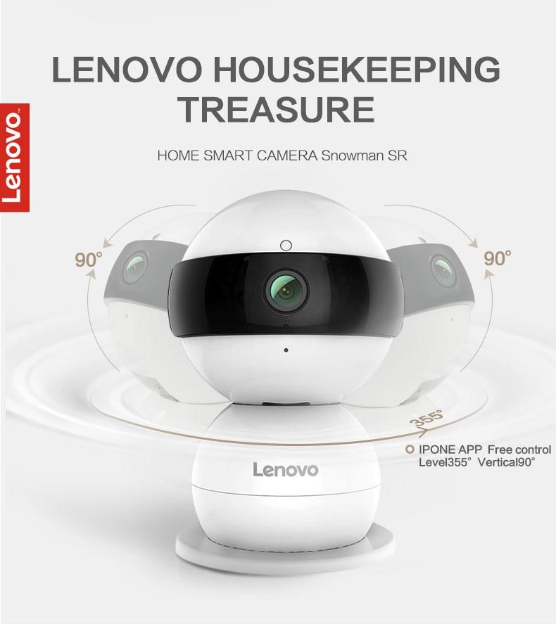 LENOVO WiFi IP Camera Snowman SR Wireless Mini HD 1080P Monitor & PTZ Video  Surveillance Cctv Camera Motion Detector Cctv Cams Cctv Ip From